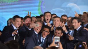 """Велокоманда """"Астана"""" провела официальную презентацию в столице Казахстана"""