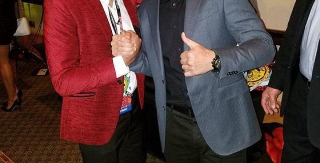 Геннадий Головкин сделал фото с Амиром Ханом и Виталием Кличко на конвенции WBC