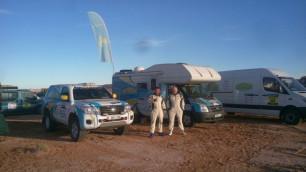 Экипаж Off Road Kazakhstan вошел в восьмерку сильнейших абсолютного зачета Africa Eco Race-2017 после второго этапа