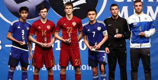 Два футболиста сборной Казахстана признаны лучшими на Мемориале Гранаткина