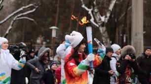 В Алматы стартовала Эстафета огня Универсиады-2017