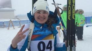 """Казахстанская биатлонистка рассказала о том, что ей помогло завоевать """"золото"""" на Универсиаде в Алматы"""
