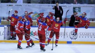 Представитель сборной России отметился провокационным жестом после победы над Казахстаном на Универсиаде-2017