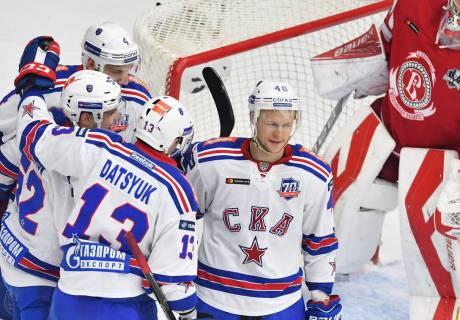 ЦСКА и СКА всухую обыграли соперников и вышли во второй раунд плей-офф КХЛ