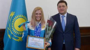 Завоевавшей больше всех медалей на Универсиаде-2017 казахстанке подарили квартиру