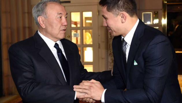 Назарбаев поздравил Головкина с победой над Джейкобсом