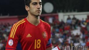Генрих Мхитарян выйдет в стартовом составе сборной Армении на матч с Казахстаном