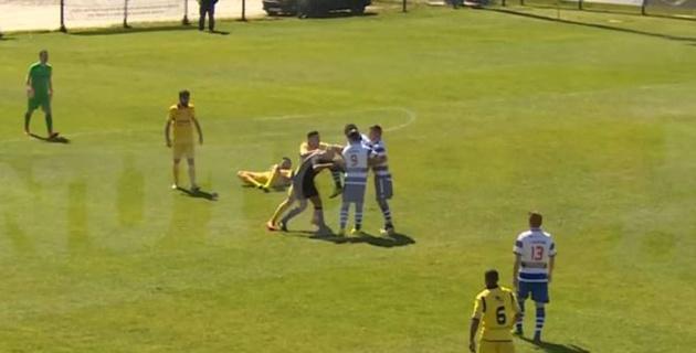 Португальский футболист ударом коленом в голову нокаутировал судью за красную карточку