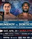 По физическим характеристикам Дортикос выглядит мощнее Шуменова, но шансы боксеров на победу равны - комментатор