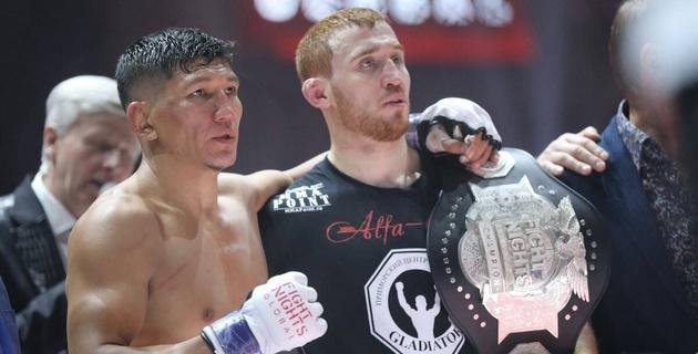 Видео боя Куата Хамитова за чемпионский пояс Fight Nights Global