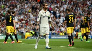 """УЕФА не накажет Серхио Рамоса за удар локтем в голову защитника """"Атлетико"""""""