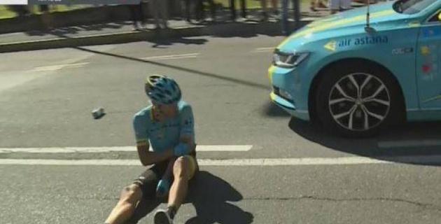 """Капитан """"Астаны"""" Танел Кангерт сломал локоть и завершил выступление на """"Джиро д'Италия"""""""