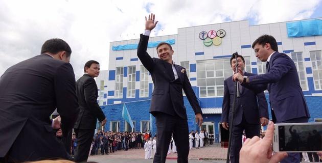Как Геннадий Головкин открывал названный его именем спорткомплекс в Караганде