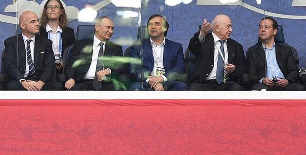 Бородюк посмотрел открытие Кубка конфедераций в компании с Путиным, Пеле и главой ФИФА