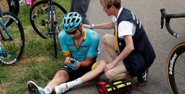 """""""Астана"""" рассказала о травмах Катальдо и Фульсанга после падения на 11-м этапе """"Тур де Франс"""""""