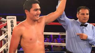 Непобежденный казахстанец Нурсултанов прокомментировал нокаут в бою с американским боксером