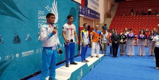 Казахстанский дзюдоист выиграл серебряную медаль Сурдлимпийских игр