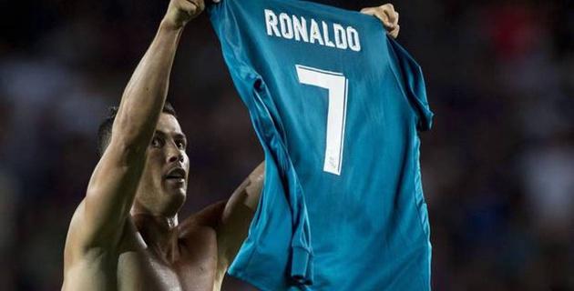 """Роналду повторил жест Месси при праздновании гола в ворота """"Барселоны"""""""
