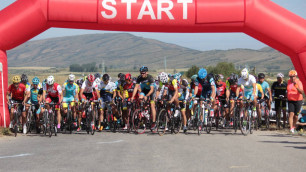 Завершился второй день открытого чемпионата Казахстана по велоспорту на шоссе среди любителей и ветеранов