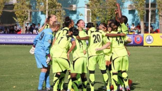 """Футболистки """"БИИК-Казыгурта"""" разгромили клуб из Венгрии и вышли в плей-офф Лиги чемпионов"""