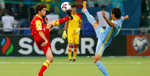 Сборная Казахстана крупно проиграла Черногории в матче отбора на ЧМ-2018