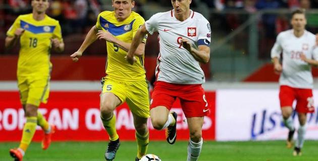 Сборная Казахстана крупно проиграла Польше в матче с отмененным и незасчитанным голами