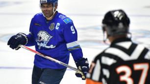 """Капитан """"Барыса"""" Найджел Доус вышел на первое место в истории КХЛ по количеству хет-триков"""