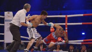 Казахстанец Жанабаев нокаутировал соперника в первом раунде в андеркарте Каната Ислама