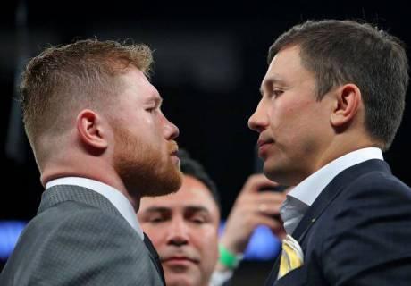 Альварес и Головкин. Фото: boxingscene.com