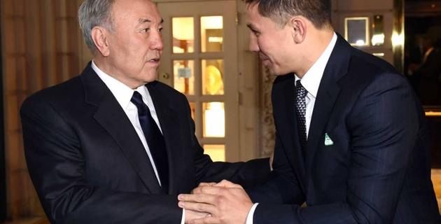 Как Нурсултан Назарбаев смотрел бой Головкин - Альварес во время зарубежного визита