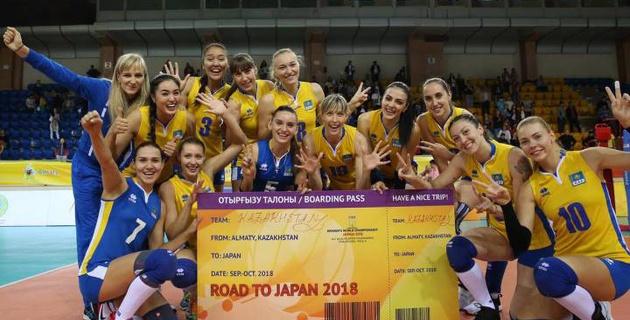 Женская сборная Казахстана по волейболу в четвертый раз подряд вышла на чемпионат мира