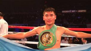 Непобежденный казахстанец Бекман Сойлыбаев защитил титул WBC в Лас-Вегасе
