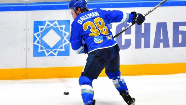 """Даллмэн из """"Барыса"""" стал первым защитником и пятым игроком, набравшим 400 очков в КХЛ"""
