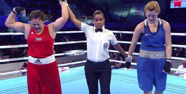 Казахстанка победила россиянку и выиграла молодежный чемпионат мира по боксу