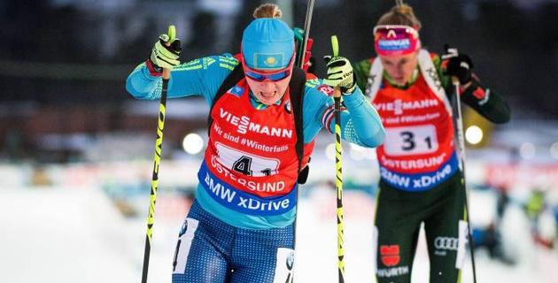 Казахстанская биатлонистка Вишневская вошла в ТОП-10 в гонке преследования на этапе Кубка мира в Эстерсунде