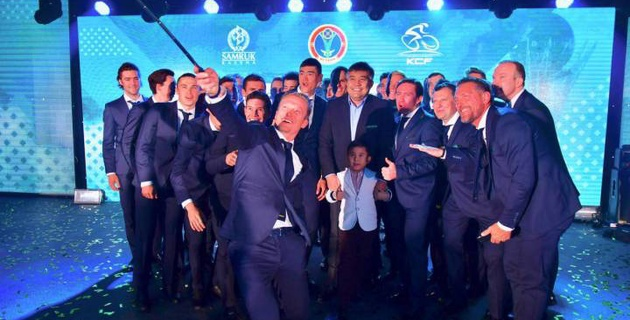 "Велокоманда ""Астана"" провела презентацию в столице Казахстана"