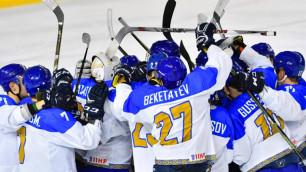 Сборная Казахстана обыграла Австрию и вышла в лидеры за тур до финиша молодежного ЧМ по хоккею
