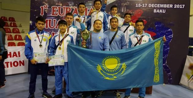 Сборная Казахстана завоевала восемь медалей на Кубке Евразии по муайтай