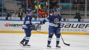 Голы Даллмэна и Доуса помогли дивизиону Чернышева выйти в финал Матча звезд КХЛ в Астане