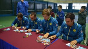 Казахстанские теннисисты провели мастер-класс для воспитанников детского дома