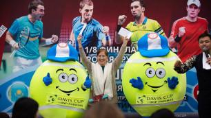 Приуроченный к Кубку Дэвиса мастер-класс от казахстанских теннисистов прошел в Астане