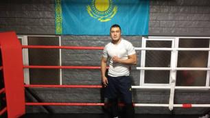 Казахстанский новичок профи-бокса прокомментировал срыв боя в США и выступление в весе Ислама и Лары