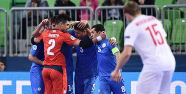Прямая трансляция матча сборных Казахстана и России на Евро-2018 по футзалу в Словении