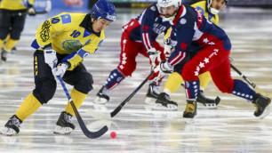 Капитан сборной Казахстана по бенди стал лучшим бомбардиром чемпионата мира-2018