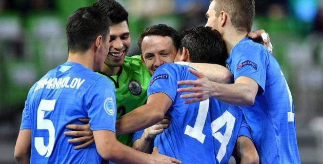Прямая трансляция матча сборной Казахстана за выход в полуфинал Евро-2018 по футзалу