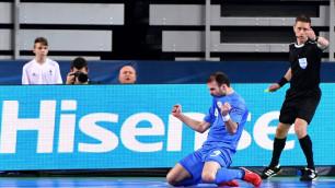 Бразильский нападающий сборной Казахстана расплакался после выхода в полуфинал Евро-2018 по футзалу