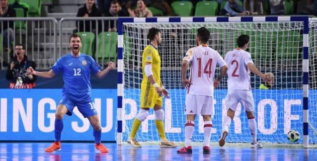 Английский эксперт восхитился игрой сборной Казахстана по футзалу в полуфинале Евро-2018 против Испании