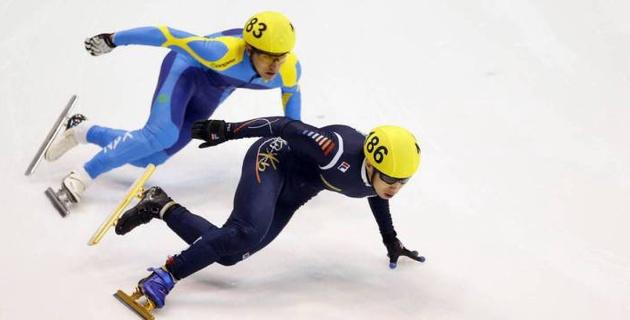 Падение не позволило казахстанскому шорт-трекисту выйти в полуфинал Олимпиады-2018