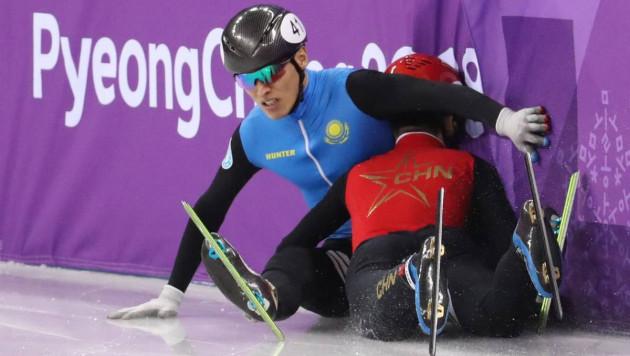"""""""Хотелось бы извиниться, что так получилось"""". Казахстанский шорт-трекист прокомментировал падение на Олимпиаде"""