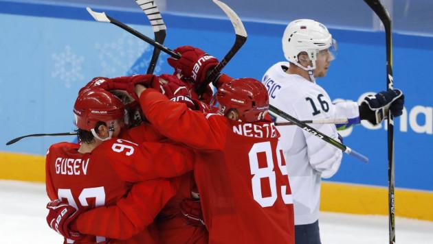 Сборная России по хоккею забросила восемь шайб Словении и одержала первую победу на Олимпиаде-2018